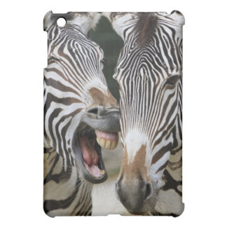 close-up of head of zebras, Equus Sp., Berlin iPad Mini Cover