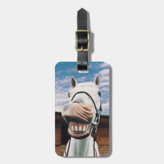 Close-up of Horse with Mouth Open Bag Tag