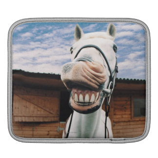 Close-up of Horse with Mouth Open iPad Sleeve