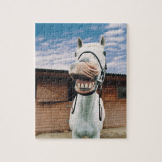 Close-up of Horse with Mouth Open Jigsaw Puzzle