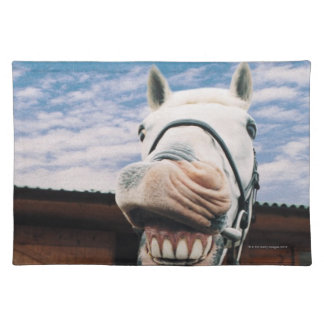 Close-up of Horse with Mouth Open Placemat