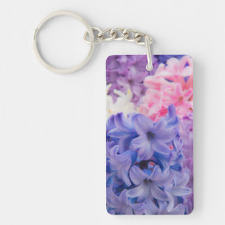 Close-up of Hyacinth plant Key Ring