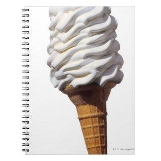 Close-up of ice cream note book