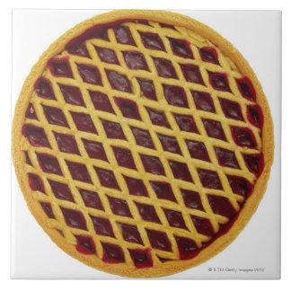 Close-up of jam tart tile