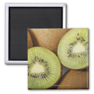 Close-up of kiwi fruits 2 square magnet
