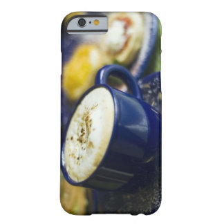 Close-up of latte on table barely there iPhone 6 case