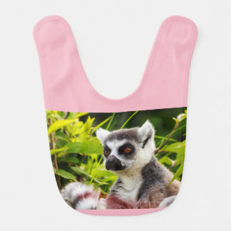 close-up of lemur of madagascar on baby kid bib