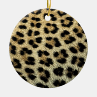 Close up of Leopard spots, Africa Round Ceramic Decoration