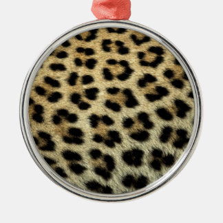 Close up of Leopard spots, Africa Silver-Colored Round Decoration