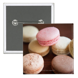 Close up of Macaroons 15 Cm Square Badge