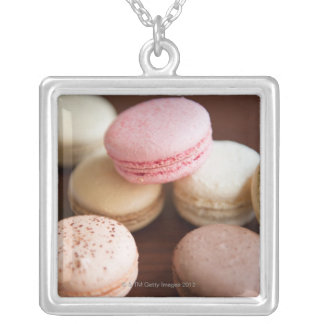 Close up of Macaroons Silver Plated Necklace