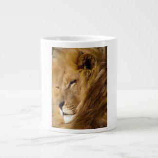 Close Up of Male Lion s Head Face Jumbo Mug
