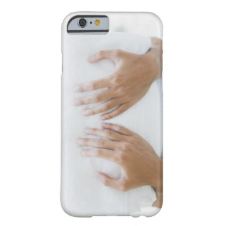 Close up of man holding towels barely there iPhone 6 case