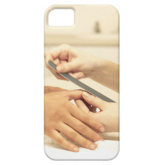 Close up of manicure iPhone 5 covers