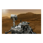 Close-up of Mars Curiosity Rover