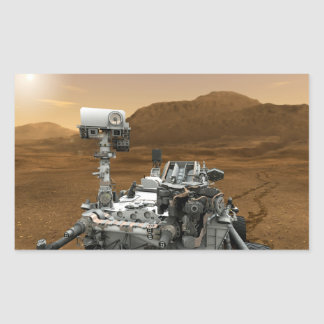 Close-up of Mars Curiosity Rover Rectangle Sticker