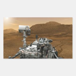 Close-up of Mars Curiosity Rover Rectangle Sticker