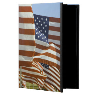 Close-Up of Multiple U.S. Flags Cover For iPad Air