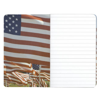 Close-Up of Multiple U.S. Flags Journal