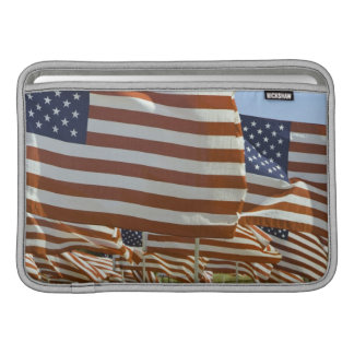Close-Up of Multiple U.S. Flags MacBook Sleeve
