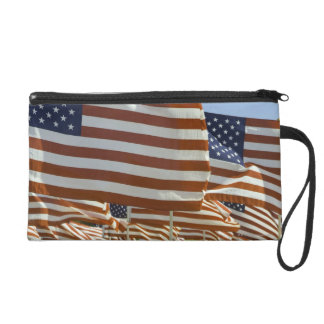 Close-Up of Multiple U.S. Flags Wristlet