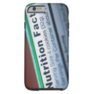 Close-up of nutrition information tough iPhone 6 case