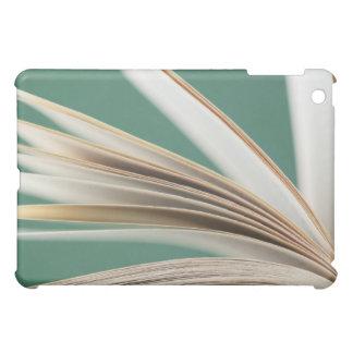Close-up of open book, studio shot iPad mini cover