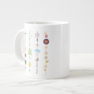 Close-up of ornaments large coffee mug