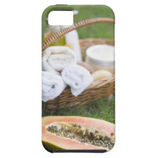 Close-up of papaya massage therapy treatment iPhone 5 case
