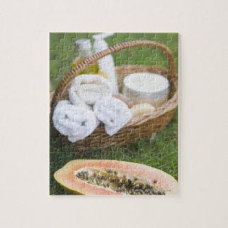 Close-up of papaya massage therapy treatment jigsaw puzzle