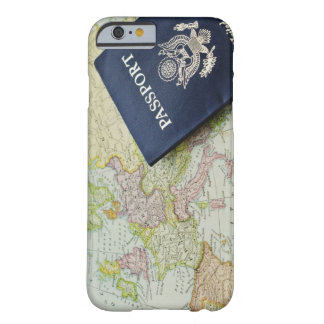 Close-up of passport lying on European map Barely There iPhone 6 Case