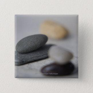 Close-up of pebbles 15 cm square badge