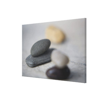 Close-up of pebbles canvas print