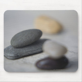 Close-up of pebbles mouse mat