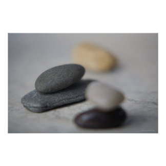 Close-up of pebbles poster
