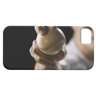 Close up of pitcher holding baseball barely there iPhone 5 case