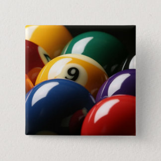 Close Up of Pool Balls 15 Cm Square Badge