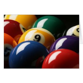 Close Up of Pool Balls Card