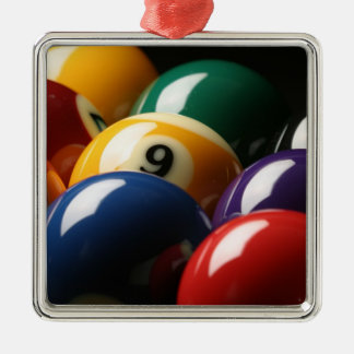 Close Up of Pool Balls Christmas Ornament