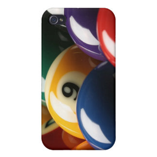 Close Up of Pool Balls iPhone 4 Cover