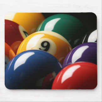 Close Up of Pool Balls Mouse Mat