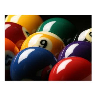 Close Up of Pool Balls Postcard
