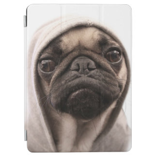 Close up of pug wearing hoodie. iPad air cover