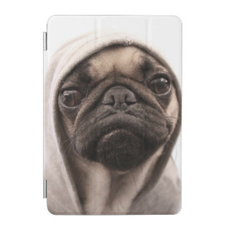 Close up of pug wearing hoodie. iPad mini cover