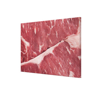 Close-up of raw steak canvas print