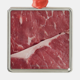 Close-up of raw steak christmas ornament