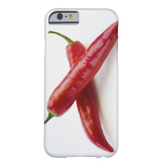 Close up of red chili peppers on white barely there iPhone 6 case