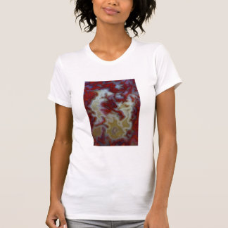 Close up of Red Moss Agate Slab T-Shirt
