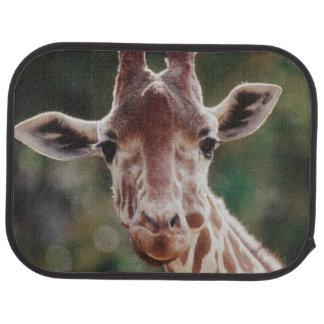 Close up of Reticulated Giraffe Floor Mat