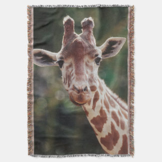 Close up of Reticulated Giraffe Throw Blanket